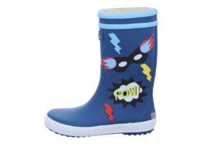 Blaue Aigle Gummistiefel für Jungs